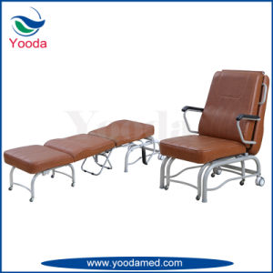 Foldable Hospital Accompany Bed in Patient Room pictures & photos