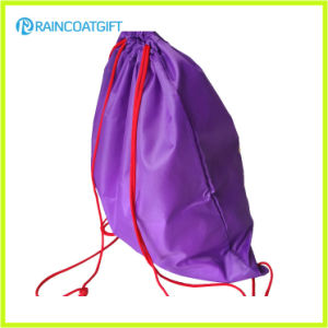 Custom Logo Printing Polyester Drawstring Bag Backpack RGB-001 pictures & photos