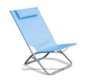 Blue Folding Outdoor Garden Camping Relaxer Reclining Foldable Beach Chair