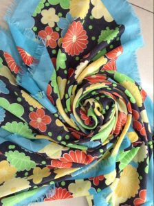 Voile Big Size Long Printed Headscarf