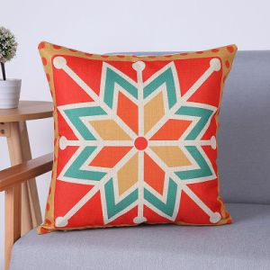 Digital Print Decorative Cushion/Pillow with Geometric Pattern (MX-59G) pictures & photos