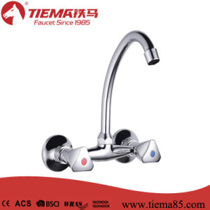Modern Design Wall-Mounted Double Handle Kitchen Mixer
