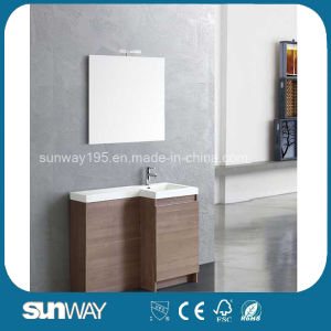 MDF Melamine Small Bathroom Cabinet with Mirror pictures & photos