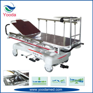 Foldable Side Rail X Ray Hospital Foldaway Transfer Cart pictures & photos