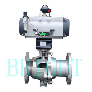Hb2514 Pneumatic O Type Hard-Seal Ball Valve