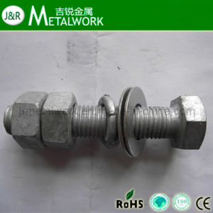 Hot DIP Galvanized HDG Hex Bolt and Nut pictures & photos