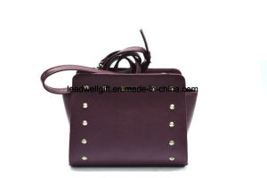 Purple Small Women Evening Handmade Leather Crossbody Bag pictures & photos