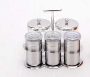Stainless Steel 5-PCS Spice Rack Set (CS-046)