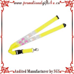 Offset Printing Lanyard with Plastic Buckle and Metal Hook