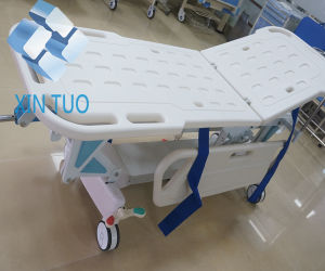 Ce ISO Hospital Emergency with Wheels Patient Rescue Trolley Bed pictures & photos