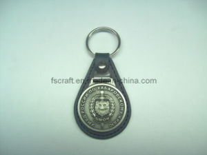 Leather Keychain with Coutom Logo