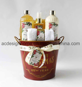info pour 7ee11 58cac Hot Selling Holiday Bath Gift Set Shower Gel Body Lotion Towel in Luxury  Packaging Metal Basket