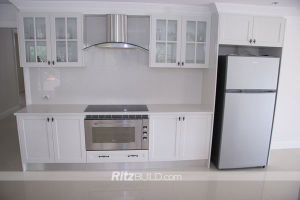 Ritz High Gloss Wood Kitchen Cabinets Wholesale Wooden Furniture Customized