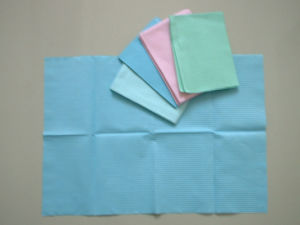 Manufacturer Dental Disposable Plastic Paper Bibs (C-6)