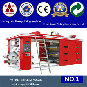 Flexographic Printing Machine with Timing Belt Controls System