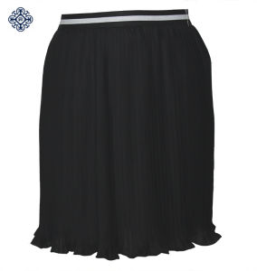 Ladies Latest Polyester Chiffon Pleated Skirt (LDS-30)