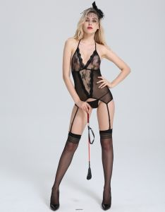 Ladies Sexy Erotic Sheer Fishnet Lace Bodystocking for Club Wear pictures & photos