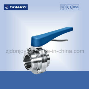 Ss 304 Manual Threaded Sanitary Butterfly Valve pictures & photos