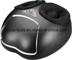 Electric Foot Massager Shiatsu Heat Kneading Rolling Vibration Display Air Pressure Relax 110V pictures & photos