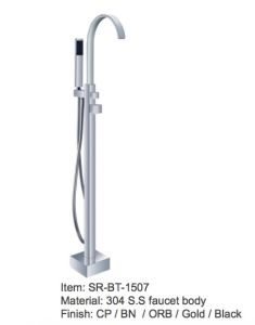 China Floor Mounted Freestanding Bathtub Faucet Sanitary Ware