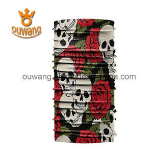 Promotional Gift Custom Logo Skull Bandanas Wholesale Multifunctional Polyester Tube Head Scarf pictures & photos