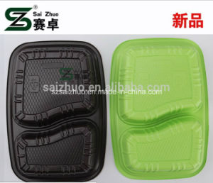 Competitive Thick Eco-Friendly 2 Compartment Disposable Lunch Box pictures & photos