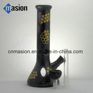 Black Inline Percolator Glass Smoking Pipe (BY007) pictures & photos