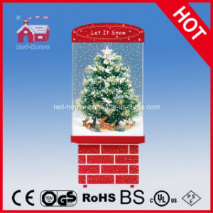Christmas Tree with Top Star Decoration Snowing Christmas Gifts