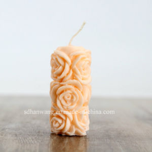 Lz0079 High Quality Flower Pillar Silicone Candle Mold for Wedding Decorations