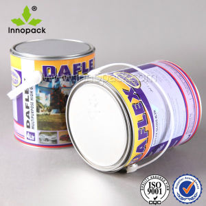 Custom Printed Tin Can 5 Liter with Lid Handle Metal Handle pictures & photos