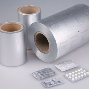 Customized Printed Pharmaceutical Aluminum Foil 20-25 Blister Pills Packaging Foil pictures & photos