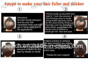 OEM Hair Care Treatment Mineral Keratin Hair Building Fibers pictures & photos