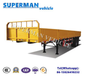 40FT Utility 3 Axle Cargo Container Sidewall Semi Truck Trailer pictures & photos