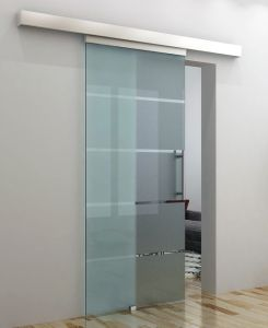 Tempered Glass Sliding Door with Aluminum Top Channel pictures & photos