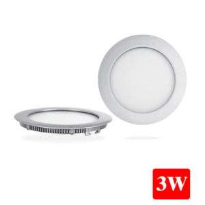 3W Recessed LED Round Flat Panel Lights