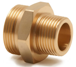 CNC Lathing Brass/Copper/Bronze Threaded Reducing Hex Nipples for Pipe Fittings pictures & photos