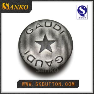 Fashion Classic Customized Metal Jeans Button (SK-D2215)