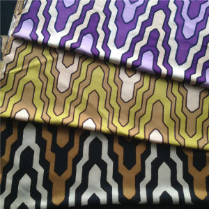 Printed Silk Twill in Arrow Pattern