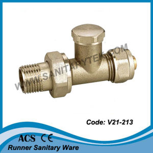 Brass Radiator Valve for Multilayer Pipe (V21-213) pictures & photos