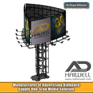 Arc Shape Advertising Unipole Billboard Display