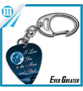 I Love You to Moon Logo Guitar Pick Keyring pictures & photos