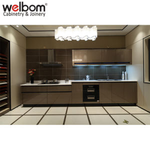 China Welbom Metal Color Design Lacquer Kitchen Cabinet China