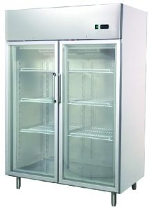 Gn Refrigerator, Double Glass Doors Refrigerator, Frost Free Refrigerator,  Upright Chiller,