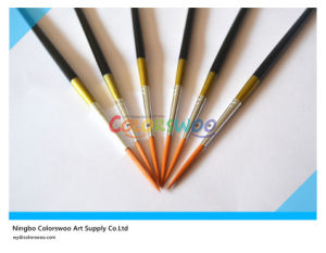 6PCS Wooden Handle Nylon Liner Hair Artist Brush in PVC Bag for Painting and Drawing (Black color) pictures & photos