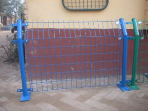 PVC Coated Highly Protecting Bilateral Wire Mesh Fence pictures & photos