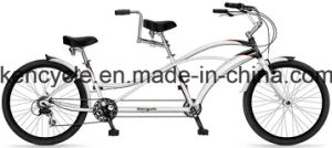 26inch Hot Sell Professional Two Riders Tandem Beach Cruiser Bike/Tandem Bike pictures & photos