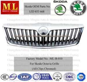 Auto Radiator Grille for Skoda Octavia Car From 2008-2ND Generation (OEM parts No.: 1ZD 853 668) pictures & photos