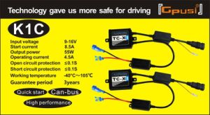 K1c HID Xenon Ballasts AC Quick Start with Canbus Ballasts HID 12V 55W AC Ballast