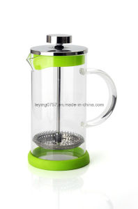 Pyrex Glass French Press Coffee Pot with S. S Filter and Glass Handle