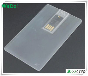 New Transparent Card USB Stick with 1 Year Warranty (WY-C31) pictures & photos